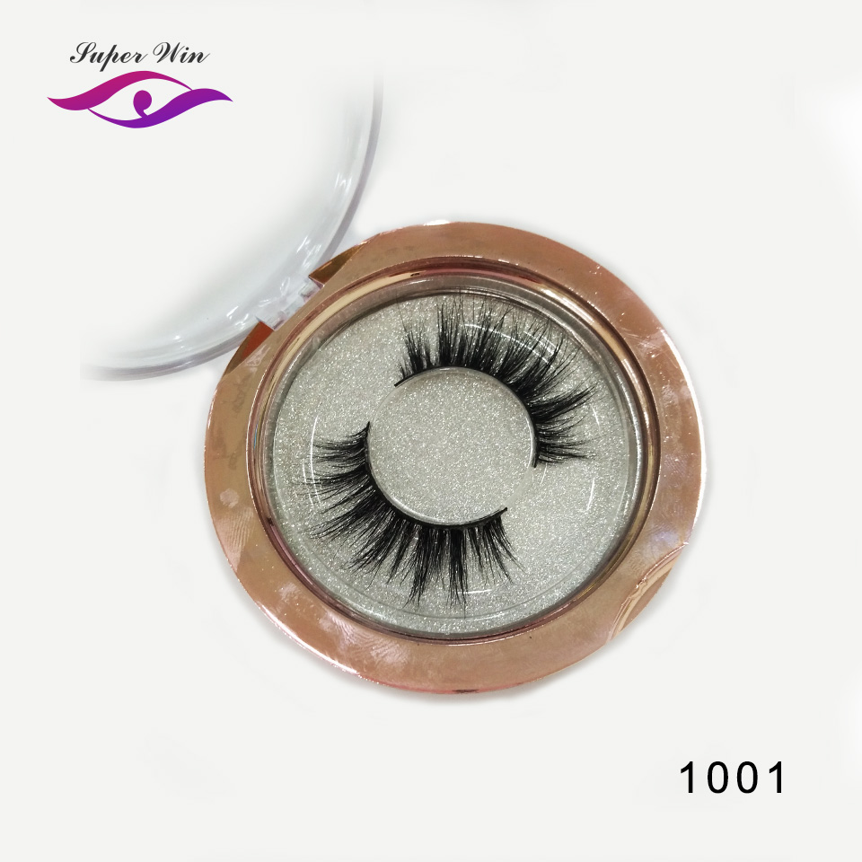 f28a88366c5 SUPERWIN high quality natural mink 3d lashes fake individual eyelash wispy lashes  hot sale custom packaging box