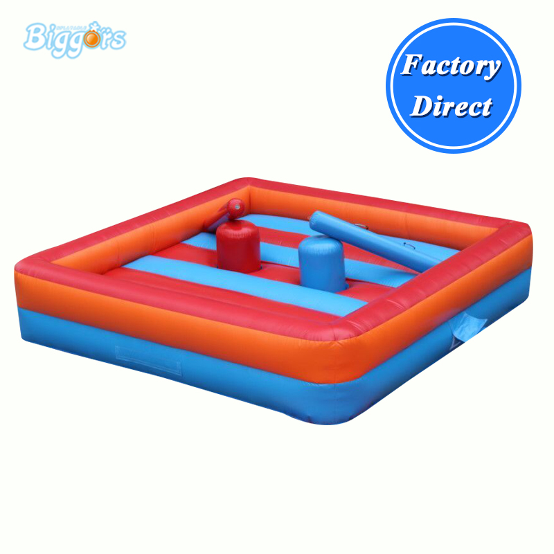цена Inflatable Gladiator Jousting Arena Ring Games With Sticks For Sale