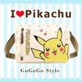 2016 Sacos de Mensageiro Saco de Escola Dos Meninos Meninas Crianças Dos Desenhos Animados Pokemon Pikachu Mochila Sacos de Ombro para Adolescentes Mochila