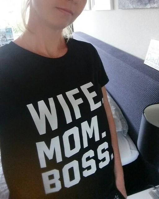 WIFE MOM BOSS printed tshirt for moms
