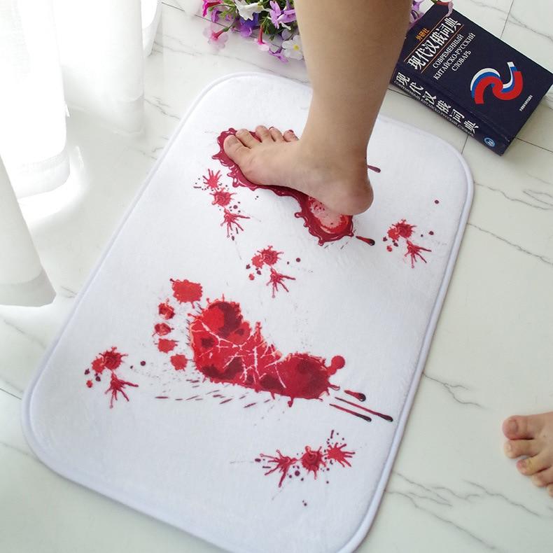 Anti-Slip Bloody Footprints Bath Mat 1