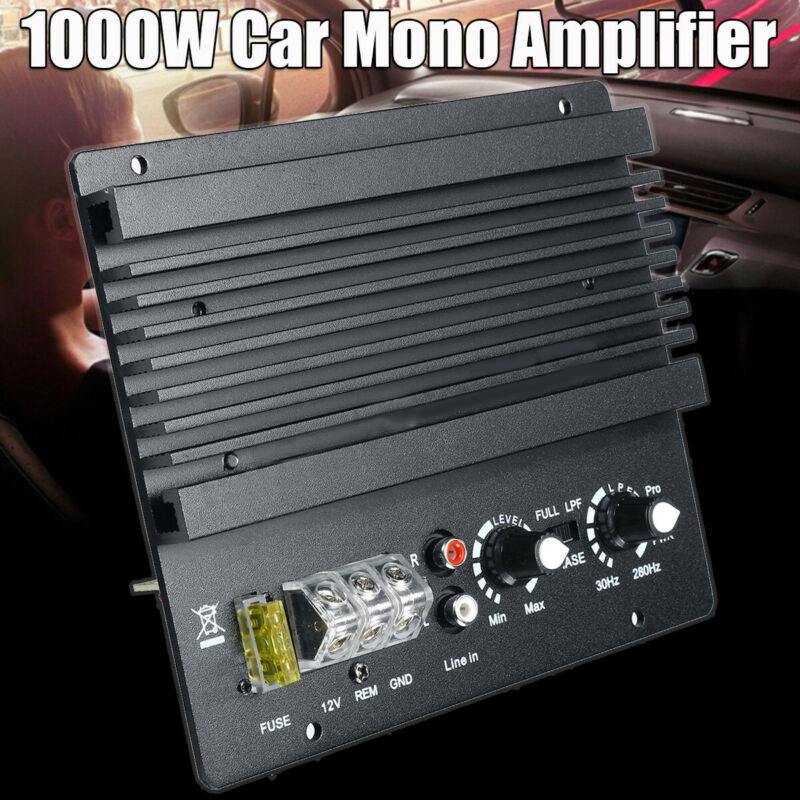1000W Metal&Plastic Car Audio Amplifier Board Mono Audio High Power Amplifier Amp Board Powerful Bass Subwoofer DC 12V 17*14.6cm