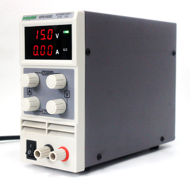 KPS1505D 15V/5A 110V-220V Adjustable High precision double display mini switch DC Power Supply with protection function switch power kps3010d adjustable high precision double led display switch dc power supply protection function 30v10a 110v 230v