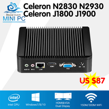 Hly Mini Computer Celeron N2830 J1800 Dual Core Mini PC Windows 10 Celeron N2930 J1900 Quad Core  HTPC TV box WIFI