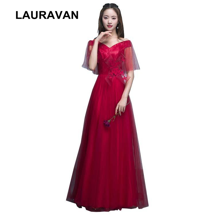 lace vintage off the shoulder boat neck wine red burgundy bridesmaid dresses bridesmaids party dress size long from china