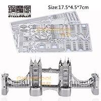 3D Metalen Puzzels Model Voor Volwassen Kinderen Jigsaw London Tower Bridge Educatief Speelgoed Collection Kerstcadeau