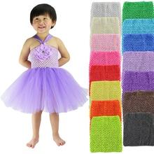 Эластичные повязки на грудь для девочек, детские повязки на голову, вязаные крючком, топы-пачки для малышей, размер S 15*15 см, 6 дюймов, 15 цветов