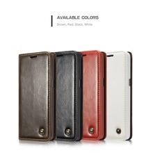 Caseme Роскошные Магнитный кошелек кожаный Чехлы для мангала случае Телефонные Чехлы для Samsung Galaxy S5 6 7 Edge S8 8 плюс Примечание 5 /Note 4/A7/A5/A3/S5