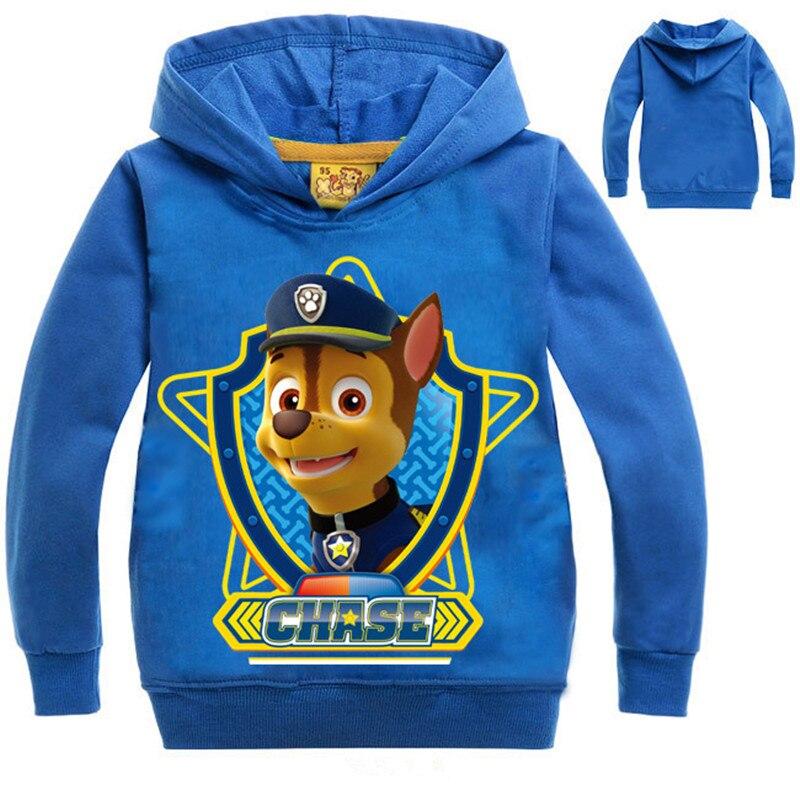2018 New Sweatshirts for Baby Boys Girls Dog Hoodies Costume Children Long Sleeve Cotton Shirts Kids Tops Teenagers Hoody Spring
