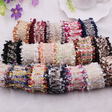 1 Yard Vintage Nylon Embroidered Tassels Lace Trim Ribbon Fabric Handmade DIY Costume Dress Sewing Supplies Craft For Hair Clips
