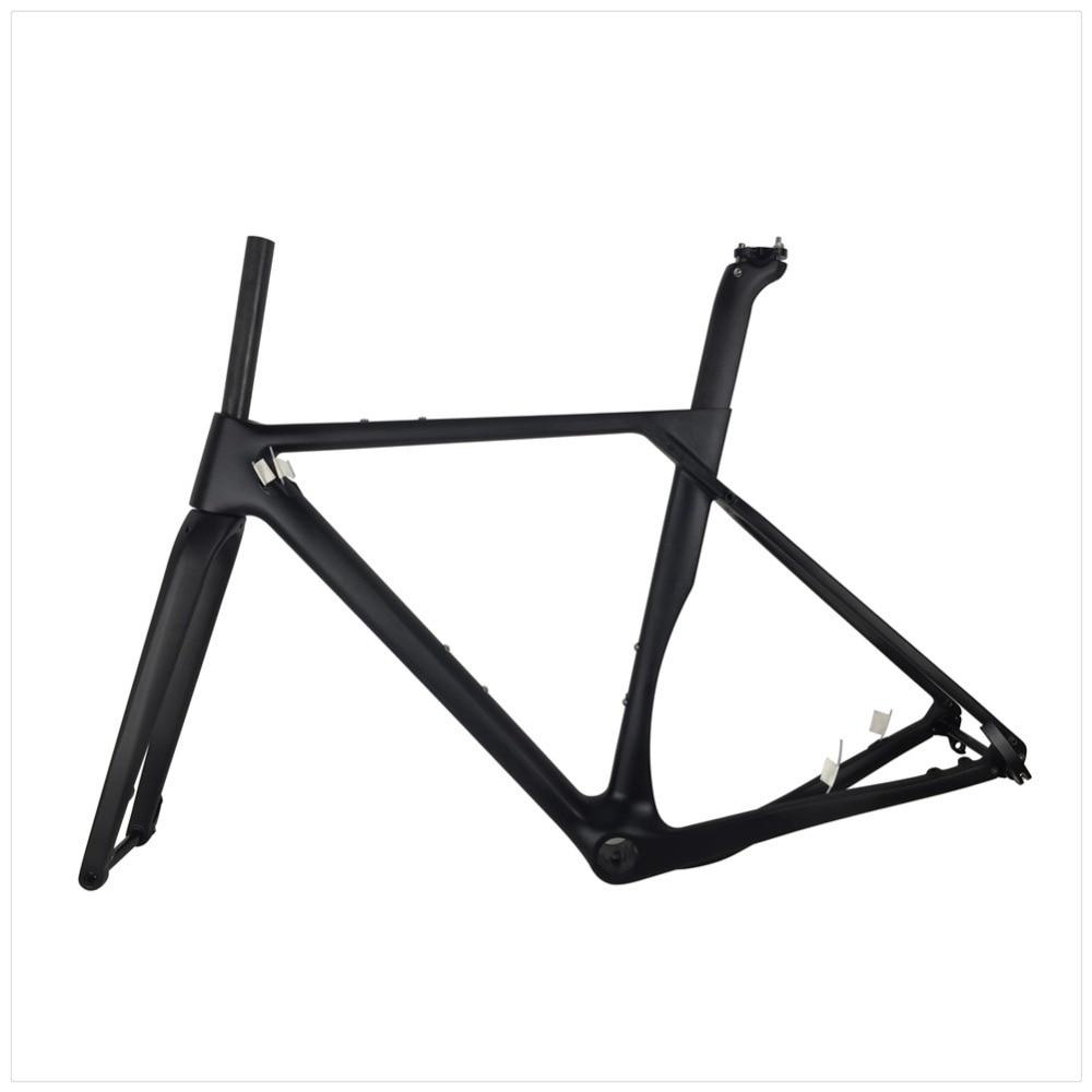 Discount Spcycle 2019 New Aero Carbon Cyclocross Gravel Bike Frame And Wheelset T1000 Carbon Disc Brake Road Bike Frameset 49/52/54/56cm 3