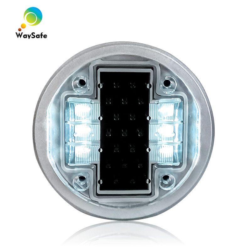 Flash Mode Hot Selling Waterproof Aluminum White LED  Solar Powered Deck Dock Road Stud