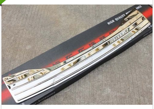 stainless steel REAR BUMPER PLATE SILL COVER for Peugeot 508 2011 2012 2013 rear bumper sill plate guards cover for renault koleos 2008 2009 2010 2011 2012