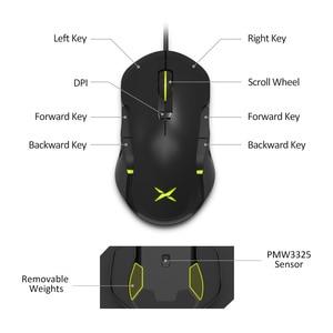 Image 4 - Delux M627S DIY 측면 날개 유선 게이밍 마우스 8 버튼 10000 인치 당 점 RGB 백라이트 PC 게이머 용 광학 왼쪽 및 오른쪽 마우스