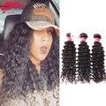 "6A Brazilian Deep Wave Curly Virgin Remy Hair 3 Bundles / Lot, 12"" ~ 32"" In Stock Factory Price Deep Wave Curly Brazilian Hair"