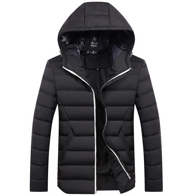 2019 New Men Jackets Winter Autumn Long-sleeved Male Jackets Men's Coat Jackets Warm Hooded Outwear Slim Coats Windbreaker