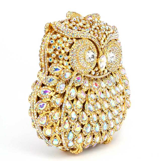 Crystal Women's Owl Clutch Bag