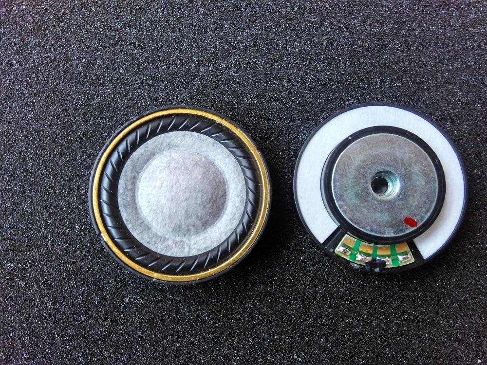 bilder für 40 MM wolle kopfhörer einheit DIY kopfhörer einheit hifi40mm kupfer ringe wahre in loch große magnetische rückseite lautsprecher