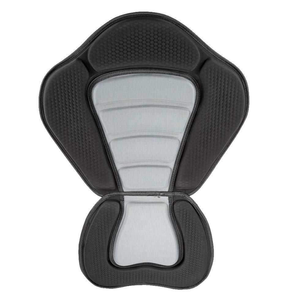 デラックスパッド入りカヤック/ボートシートソフトと滑り止めパッド入りベース高背もたれ調整可能なカヤッククッション背もたれ付き