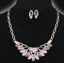 Красочный горный хрусталь цветок Заявление ожерелье для женщин элегантный богемный стиль ювелирные изделия колье feme