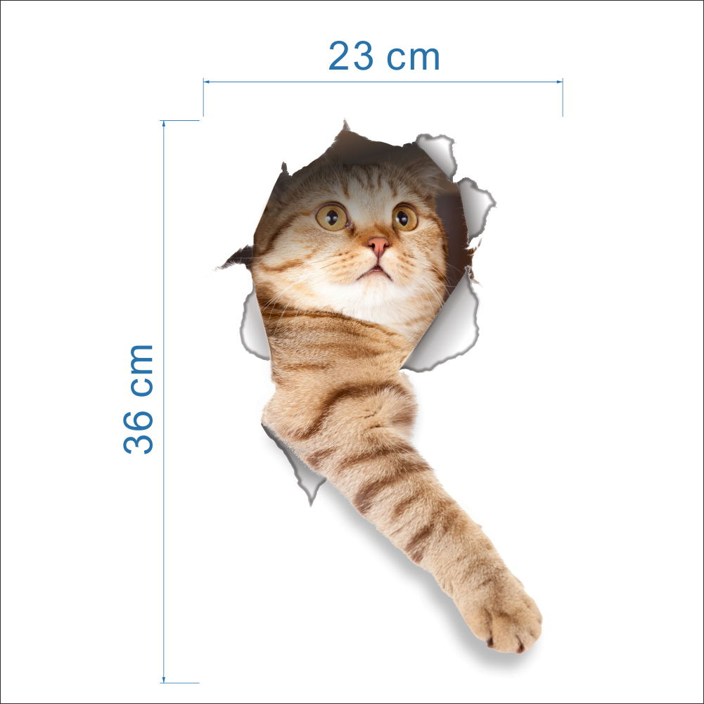 Cat 3D Bathroom Toilet Decorative Decals Stickers