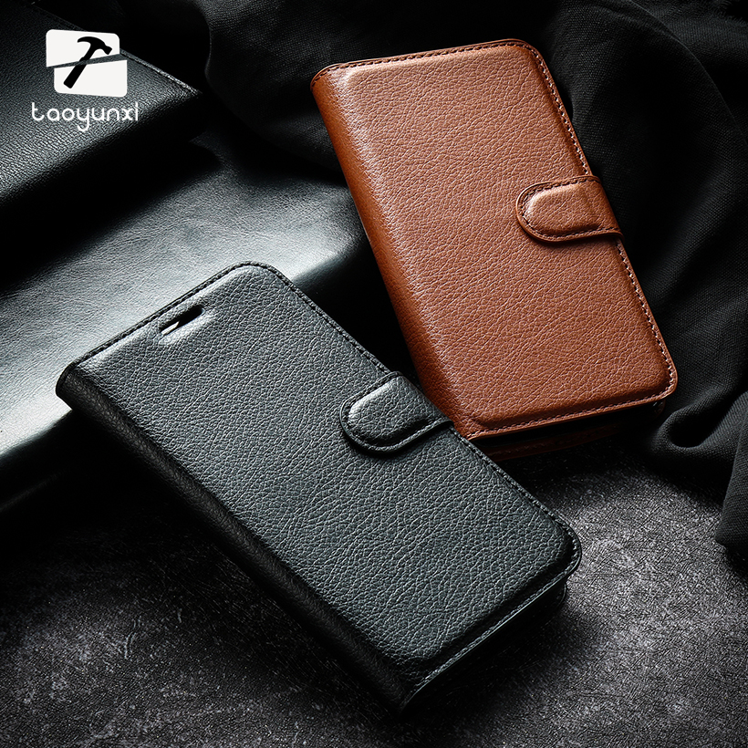 Galleria fotografica TAOYUNXI Phone Cases For Samsung Galaxy J3 2016 J300 SM-J32 J300F J3000 J3109 SM J320 Case Lichee Pattern wallet Leather Bag