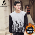 Pioneer CampFree shipping!2017 new fashion mens hoodies thicken fleece pullover casual  men coat sweatshirt hoodie