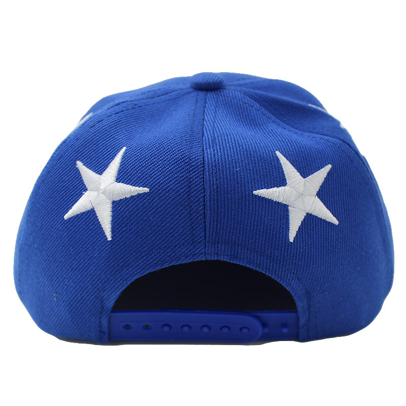 Embroidered Star Children's Snapback Cap - Rear View