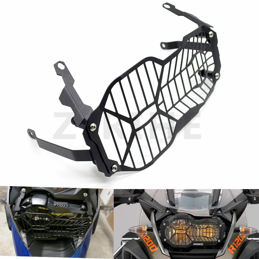 For Motorcycle Headlight Black Mesh Grill Guard Cover Protector For BMW R1200GS R 1200 GS ADV Adventure 2013 2014 2015 2016 motorbike headlight cover protector for bmw r1200gs adv lc 2013 2016 2015 2014