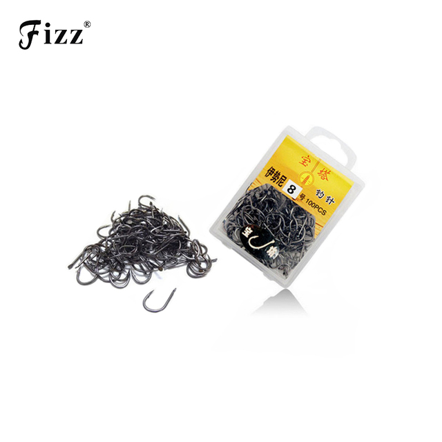 70-100 Pcs / Box Multiple Sizes High Carbon Steel Fishing Hook Needles Barbed Fishing Hook 1# - 13# Fishing Tackle Accessories