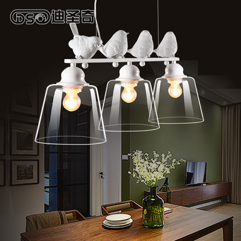North American style led Bird Pendant lights simple living room bedroom creative lamp personalized art deco restaurant lam european style living room american iron retro stair lamp simple aisle lights creative bedroom pendant lights