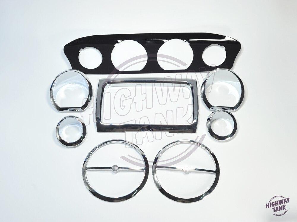 ФОТО 8pcs Stereo Accent Inner Fairing Speaker Gauge Trim Ring case for Harley Glide 14-up