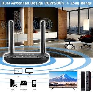 Image 3 - 80M Long Range 3 In1 Bluetooth 5.0 Audio ontvanger Zender Aptx Ll/Hd Voor Tv Auto Pc Rca 3.5Mm Jack Aux Spdif Draadloze Adapter