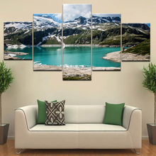 5 Panel HD Print Austria Lake & Mountains Holiday Landscape wall posters Canvas Art Painting For home living room decoration naturally beautiful places in india landscape 5 panel hd print wall posters canvas art painting for home living room decoration