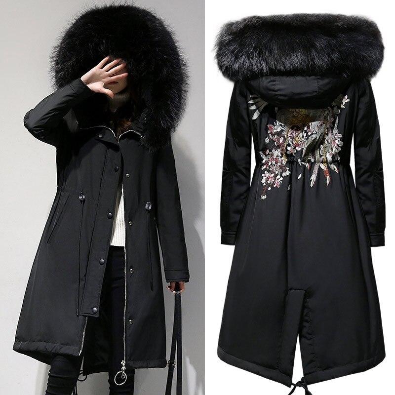 Новинка 2018 года большой размеры для женщин XL-5XL мужские парки Пальто для будущих мам зимние теплые с капюшоном на молнии Длинные куртки стек