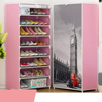 Fashion Design DIY Non Woven 8Tier8 Homestyle Shoe Cabinet Shoes Racks Storage Large Capacity Home Furniture
