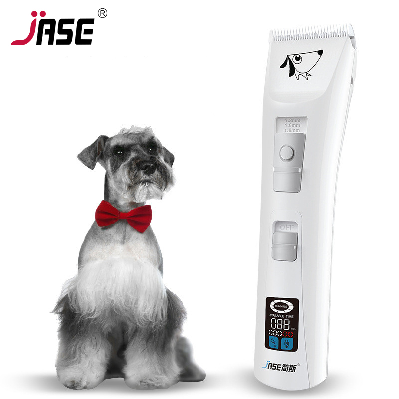 JASE High Power Clipper Dog Grooming Professional Pet Trimmer Clippers Dogs Electric Hair Shaver Rechargeable Animal