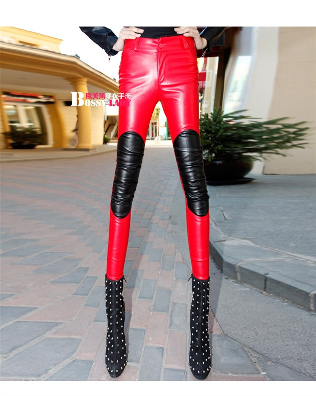 Nightclub singer DJ stage loading ds costumes dance jazz sexy legs leggings leather pants