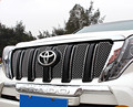High quality ABS Chrome Racing grille decoration cover trim 6pcs Toyota 2014 2015 2016 Land Cruiser Prado accessories