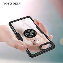 YOYODEER Clear Phone Case for Xiaomi Mi8 Lite Magnetic Car Holder TPU+PC+Metal Anti-Scratch Back Cover for Xiaomi Mi 8 Lite