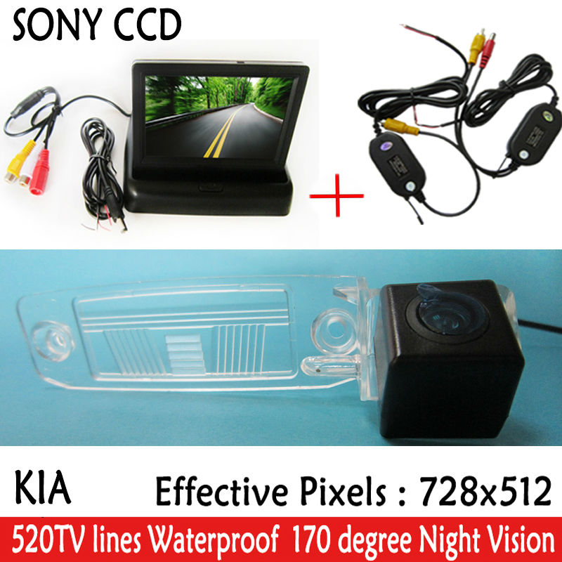 WIFI camera Auto Parking SONY HD CCD Car Rear View Camera With 4.3 inch Car Rearview Mirror <font><b>Monitor</b></font> <font><b>For</b></font> <font><b>KIA</b></font> Sportage R 2010-2014