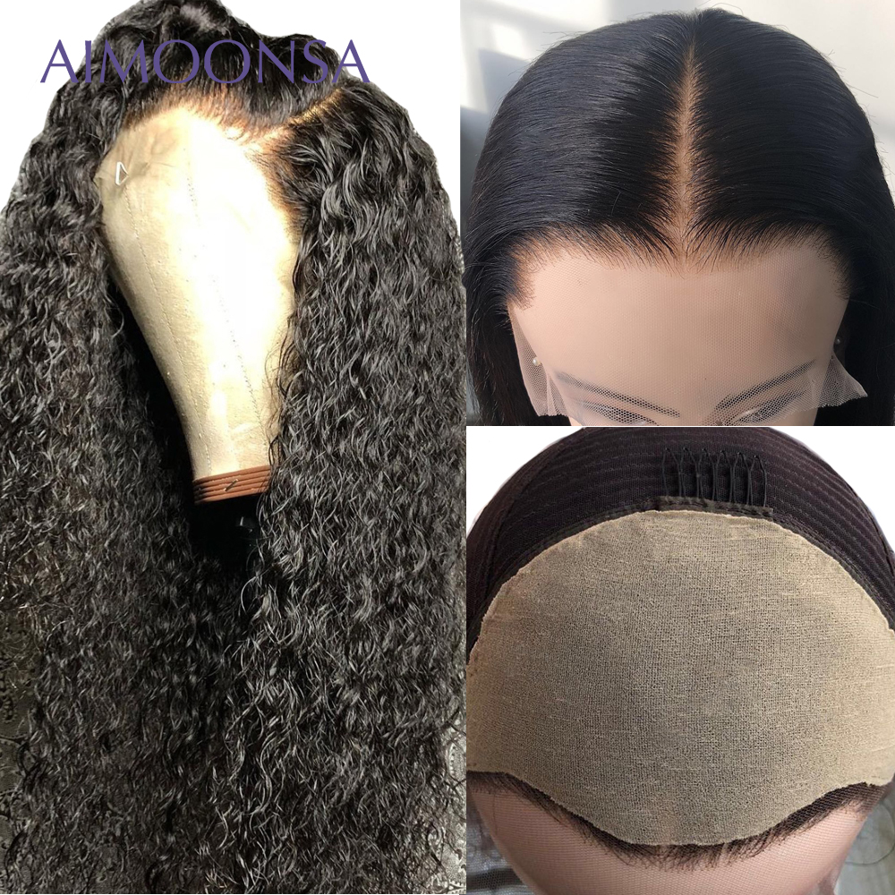 13x6 Lace Front Wig Fake Scalp Wig Curly Human Hair Wigs Transparent Lace Wig Invisible Undetectable Lace Bleached Knots-in Human Hair Lace Wigs from Hair Extensions & Wigs    1