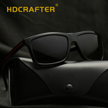 093259cbeb76 HDCRAFTER Classic Polarized Sunglasses Men Glasses Driving Sunglasses UV400  Square Frame Eyewear Male Sun Glasses Fishing Oculos