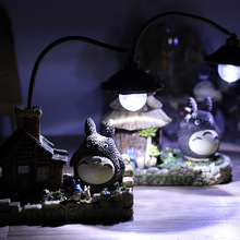 Craft Totoro Table Lamp Novelty LED Night Light Bedside Children Birthday Gift Nightlights Decor Craft Lights