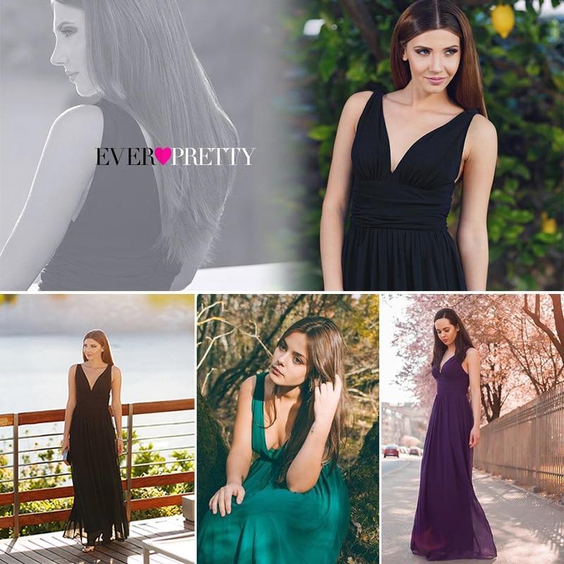 Prom Dresses 2020 Ever Pretty EP09016 Chiffon Special Occasion Dresses V Neck Elegant Royal Blue Long Vestidos Prom Dresses 2020