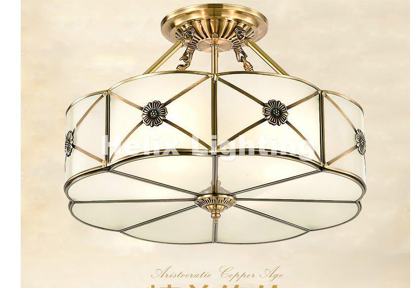 Freies Verschiffen D45cm E27 Messing Vintage FHRTE Moderne Deckenleuchte Lampe Hause Beleuchtung Wohnzimmer Lustre Deckeneinbau Deckenleuchten