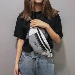 Новинка 501, модная нейтральная парусиновая сумка-мессенджер на молнии, спортивная сумка на груди, поясная сумка для девочек-подростков