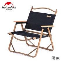 Naturehike silla plegable de pesca de grano de madera para exteriores, asiento portátil para oficina, sala de estar, almuerzo, turismo, Camping, pesca