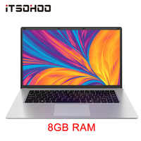 iTSOHOO laptop 15.6 Inch 8GB RAM Notebook computer with RJ45 512GB 256GB Intel J3455 Quad core laptops FHD Display ultrabook