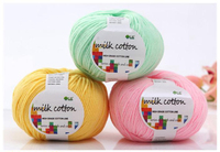 Free Shipping 45 Colors Milk Cotton Yarn For Knitting A Bag 6 Pcs Wool Yarn For